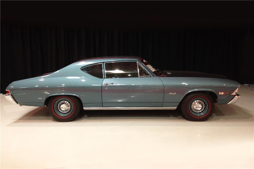 1968 CHEVROLET CHEVELLE - Side Profile - 184287