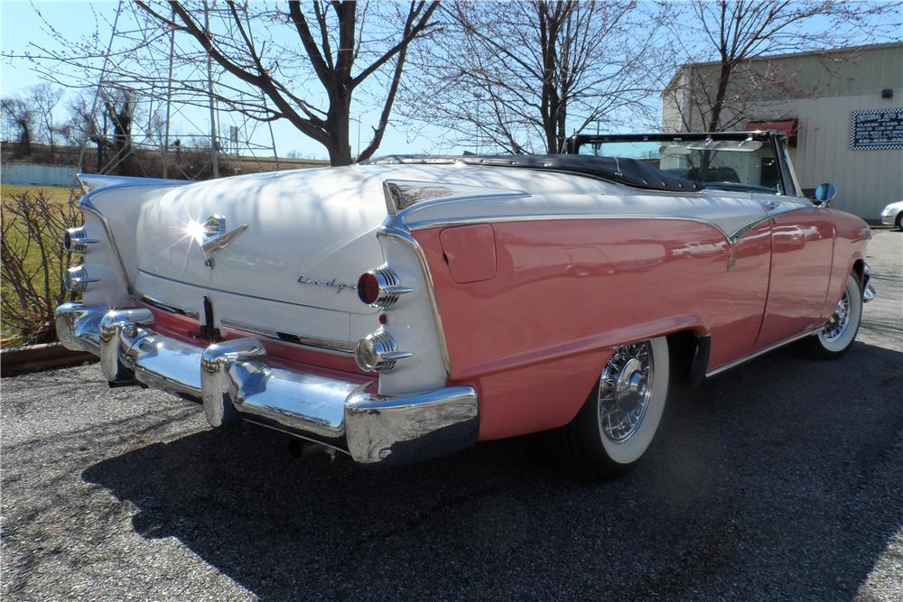 1955 DODGE ROYAL LANCER CONVERTIBLE - Rear 3/4 - 184300