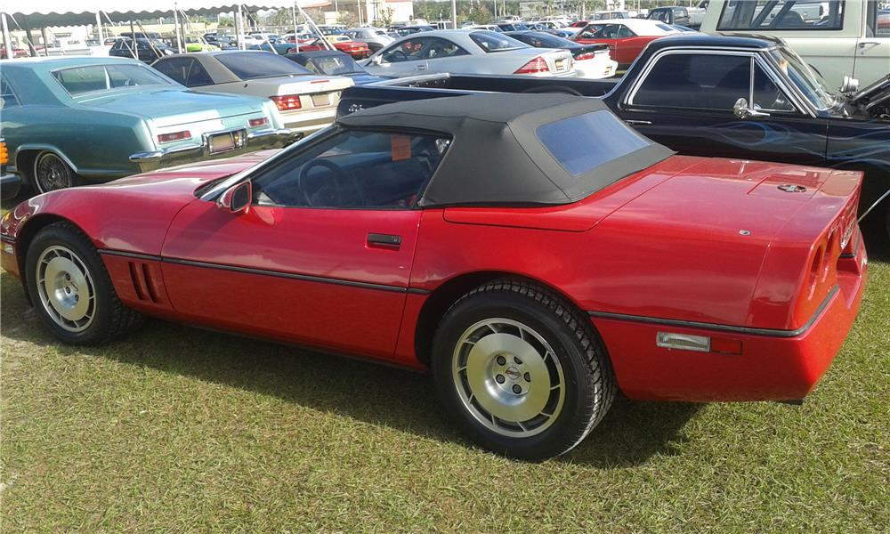 1986 CHEVROLET CORVETTE PACE CAR CONVERTIBLE - Rear 3/4 - 184309