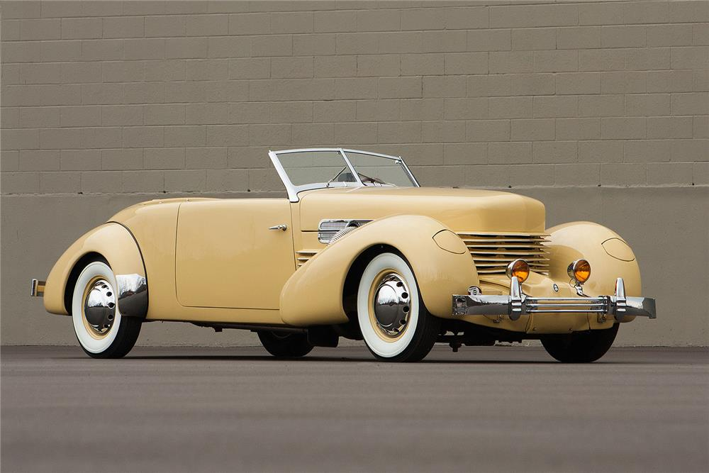 1937 CORD 812 PHAETON - Side Profile - 184348