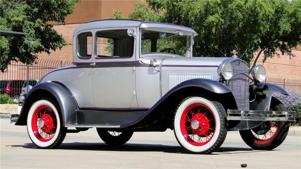 1930 FORD MODEL A RUMBLE SEAT COUPE - Front 3/4 - 184425