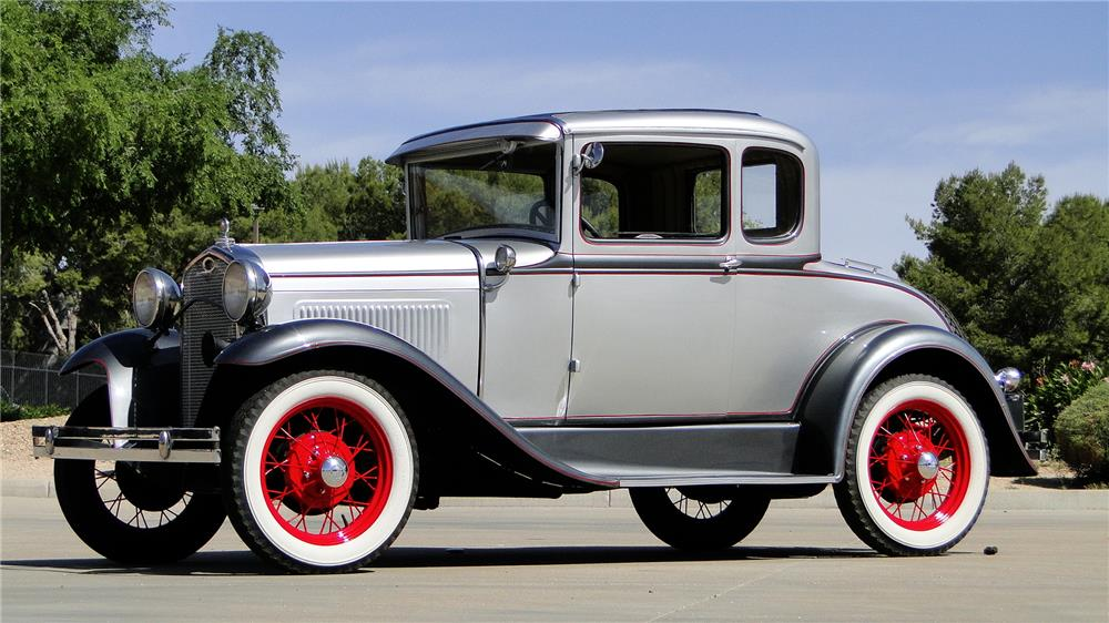 1930 FORD MODEL A RUMBLE SEAT COUPE - Side Profile - 184425