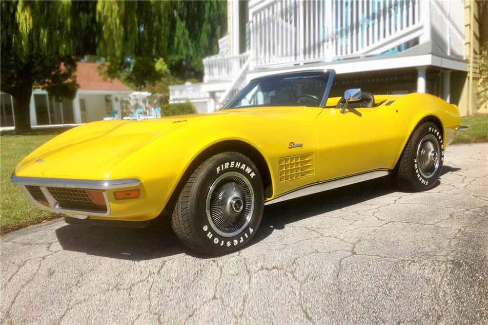 1972 CHEVROLET CORVETTE CONVERTIBLE - Front 3/4 - 184452