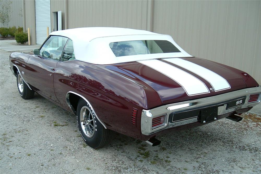1970 CHEVROLET CHEVELLE CONVERTIBLE - Rear 3/4 - 184471
