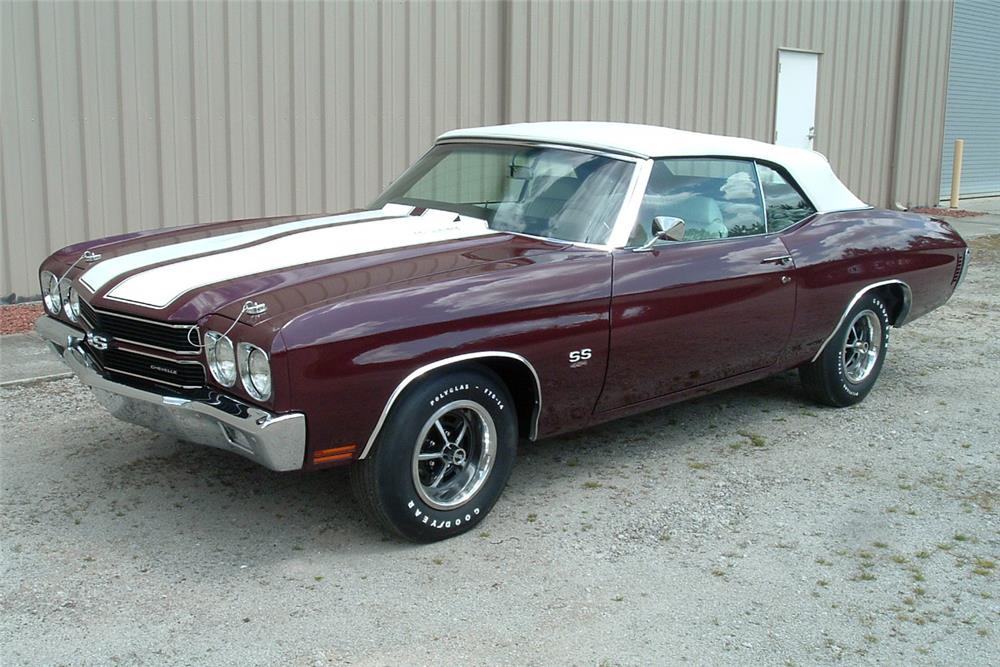 1970 CHEVROLET CHEVELLE CONVERTIBLE - Side Profile - 184471