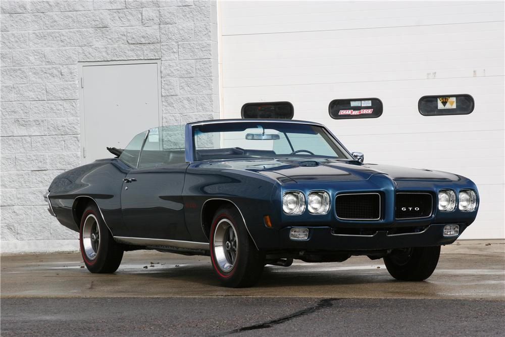 1970 PONTIAC GTO CONVERTIBLE - Side Profile - 184472