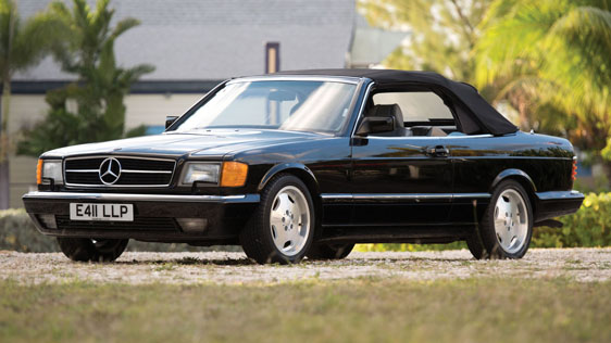 1988 MERCEDES-BENZ 560SEC CONVERTIBLE - Front 3/4 - 184519