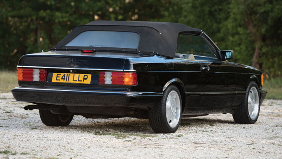 1988 MERCEDES-BENZ 560SEC CONVERTIBLE - Rear 3/4 - 184519