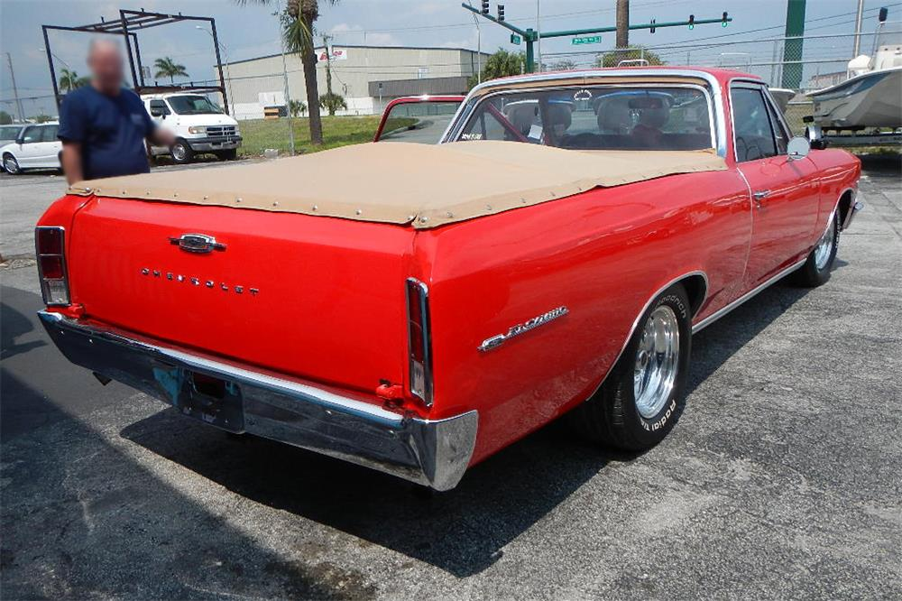 1966 CHEVROLET EL CAMINO CUSTOM PICKUP - Rear 3/4 - 184871