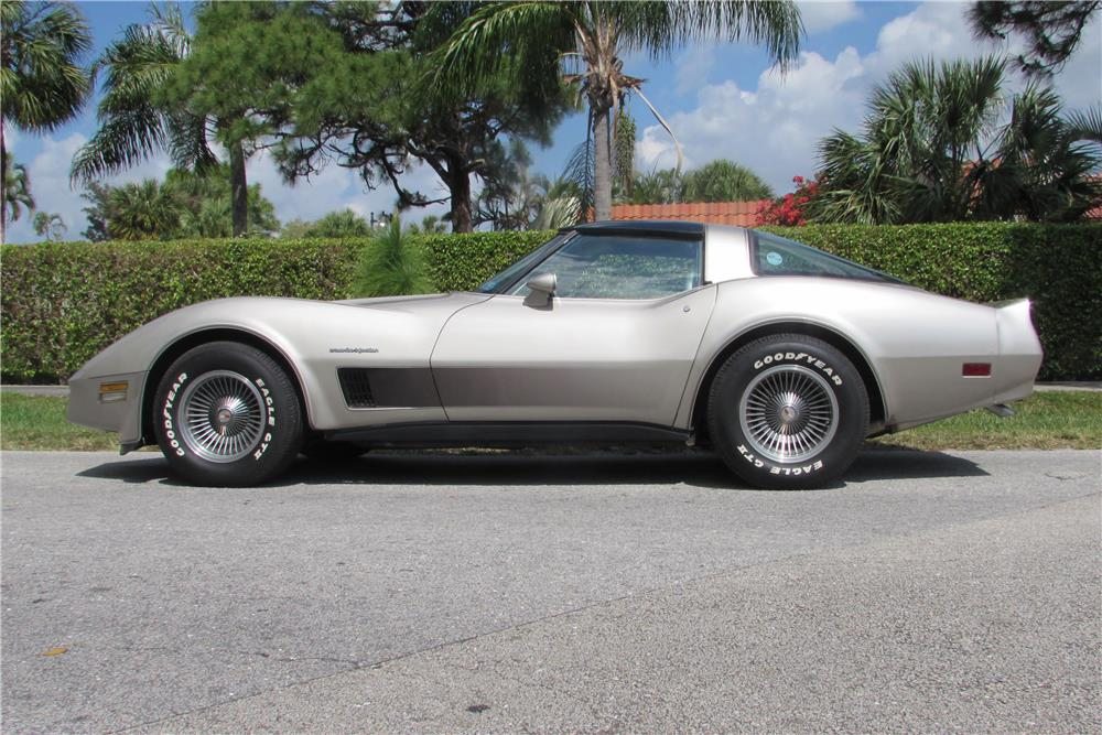 1982 CHEVROLET CORVETTE COLLECTOR'S EDITION - Side Profile - 184963