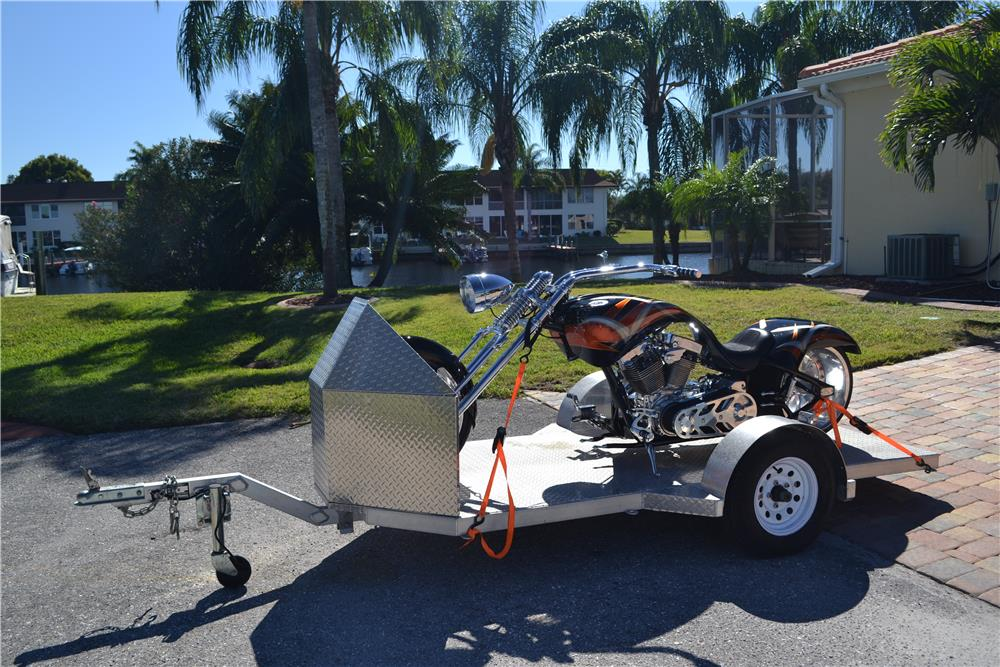 2014 HOMEMADE MOTORCYCLE TRAILER - Front 3/4 - 185019