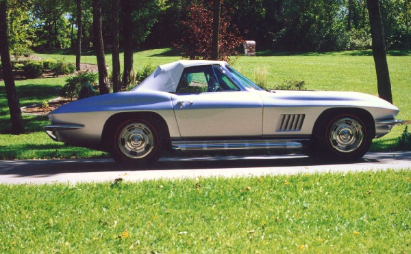 1967 CHEVROLET CORVETTE L89 ROADSTER - Side Profile - 18525
