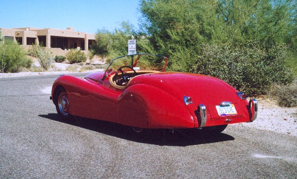 1949 JAGUAR XK 120 ALLOY ROADSTER - Rear 3/4 - 18536