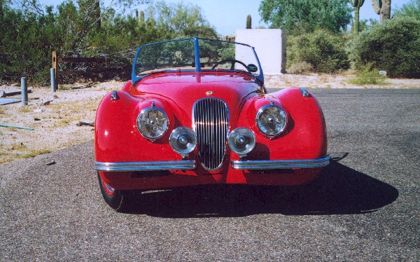 1949 JAGUAR XK 120 ALLOY ROADSTER - Side Profile - 18536