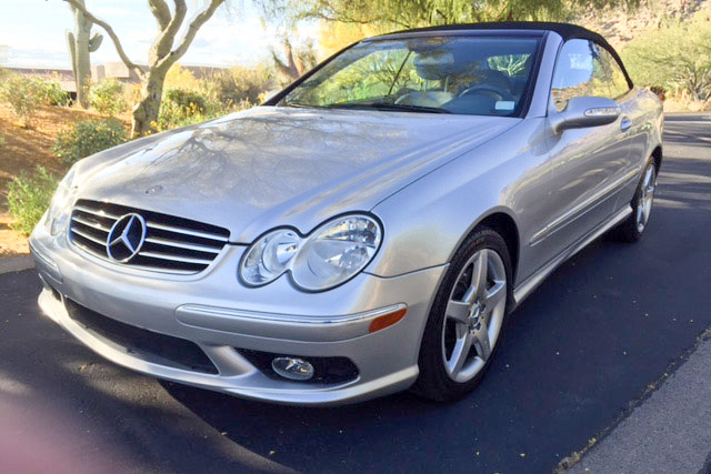 Online Car Auction >> 2005 MERCEDES-BENZ CLK500 CONVERTIBLE