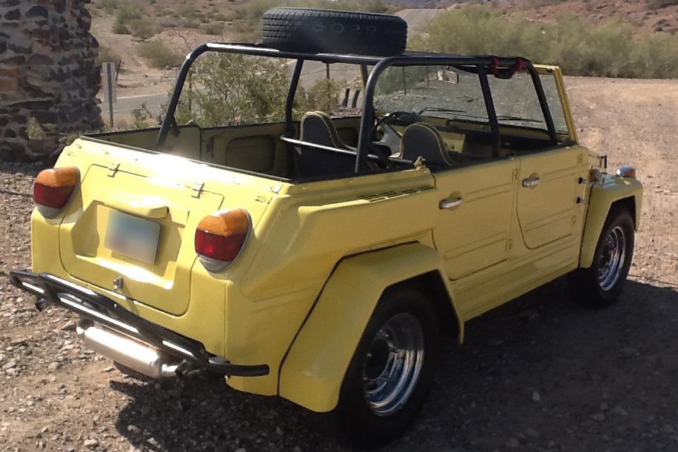 1974 VOLKSWAGEN THING CONVERTIBLE - Rear 3/4 - 185519