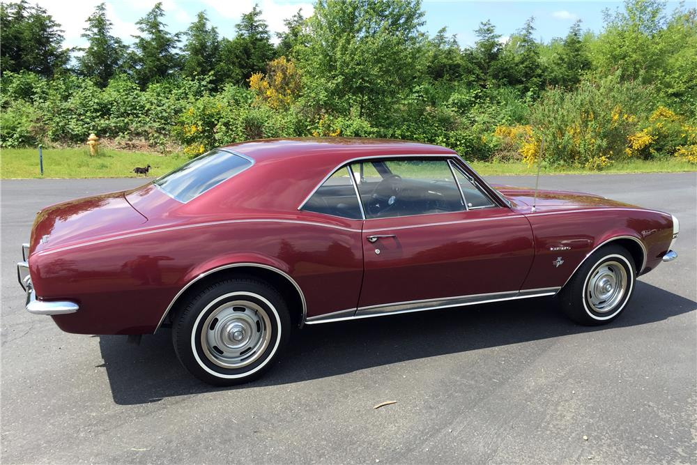 1967 CHEVROLET CAMARO - Rear 3/4 - 185520