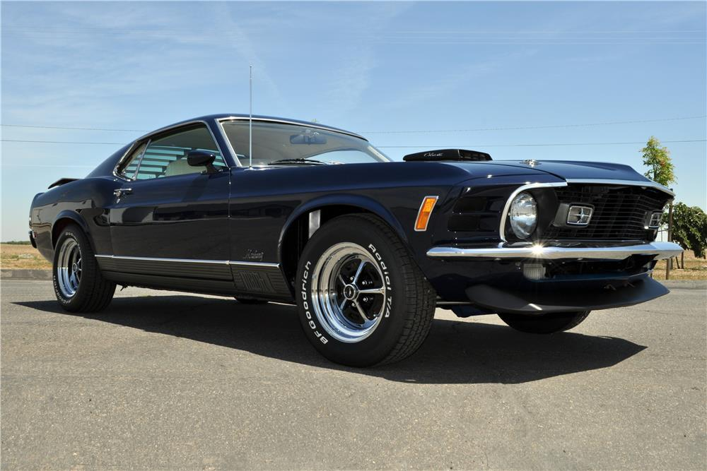 1970 FORD MUSTANG MACH 1 428 SCJ FASTBACK - Front 3/4 - 185522