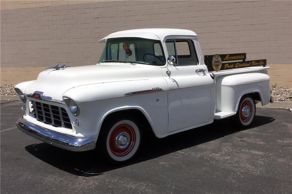 1956 CHEVROLET 3200 CUSTOM PICKUP - Front 3/4 - 185534