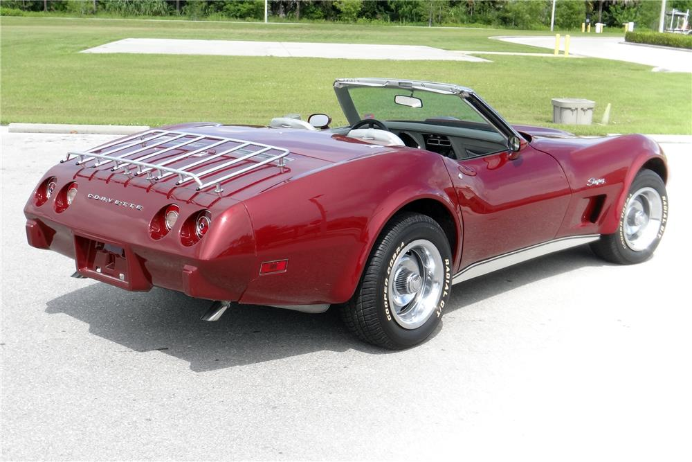 1975 CHEVROLET CORVETTE CONVERTIBLE - Rear 3/4 - 185543