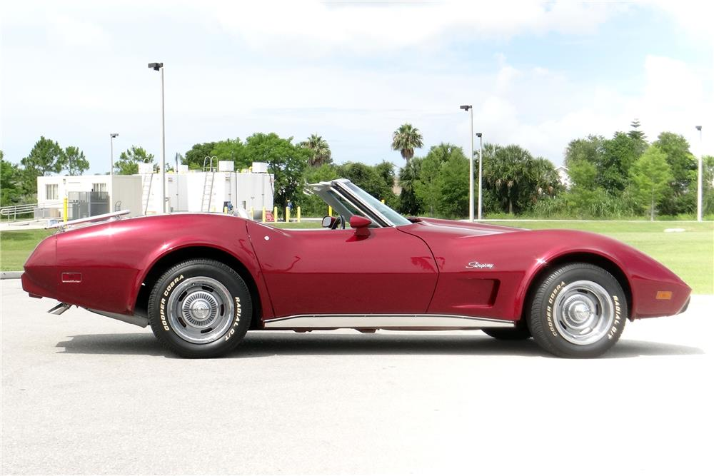 1975 CHEVROLET CORVETTE CONVERTIBLE - Side Profile - 185543