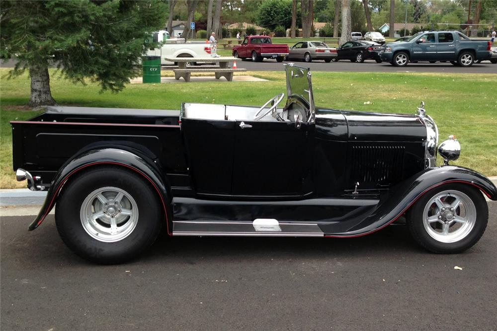 1929 FORD CUSTOM ROADSTER PICKUP - Side Profile - 185557