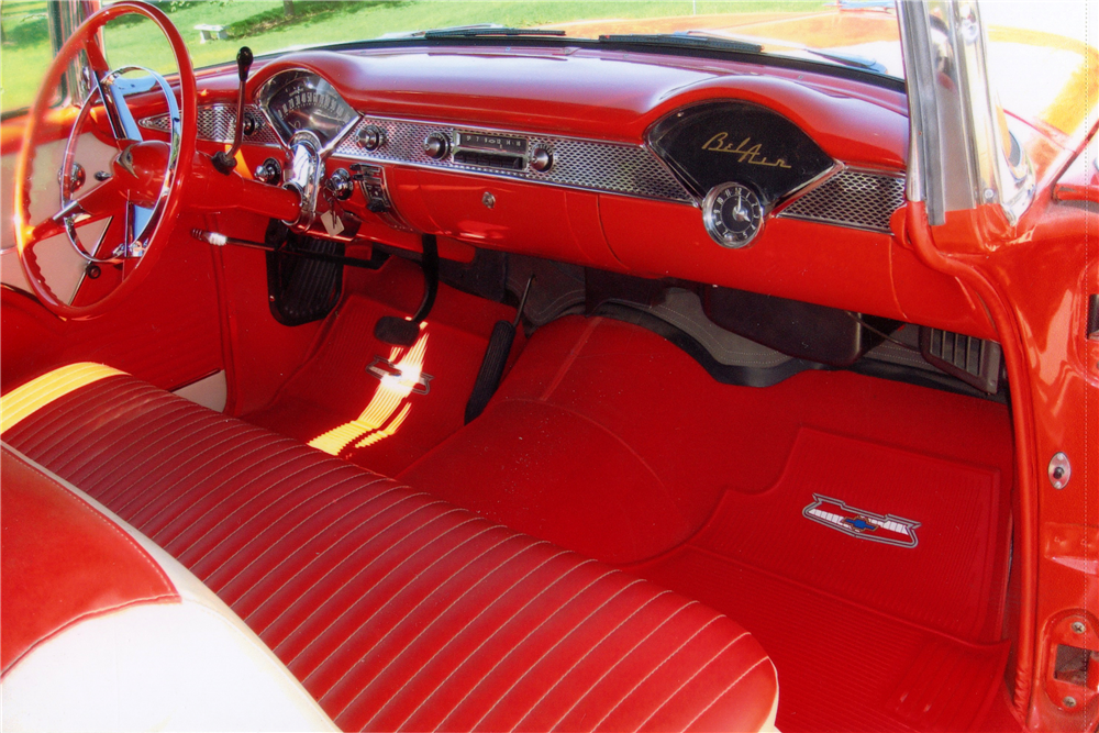 1955 CHEVROLET BEL AIR CONVERTIBLE - Interior - 185561