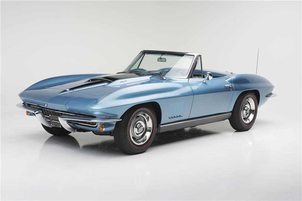 1967 CHEVROLET CORVETTE 427 CONVERTIBLE - Front 3/4 - 185616