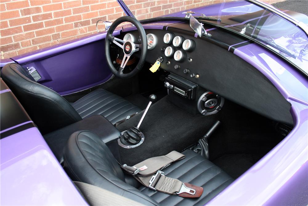 1965 SHELBY COBRA RE-CREATION ROADSTER - Interior - 185660