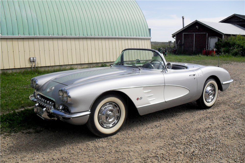 1959 CHEVROLET CORVETTE CONVERTIBLE - Side Profile - 185721