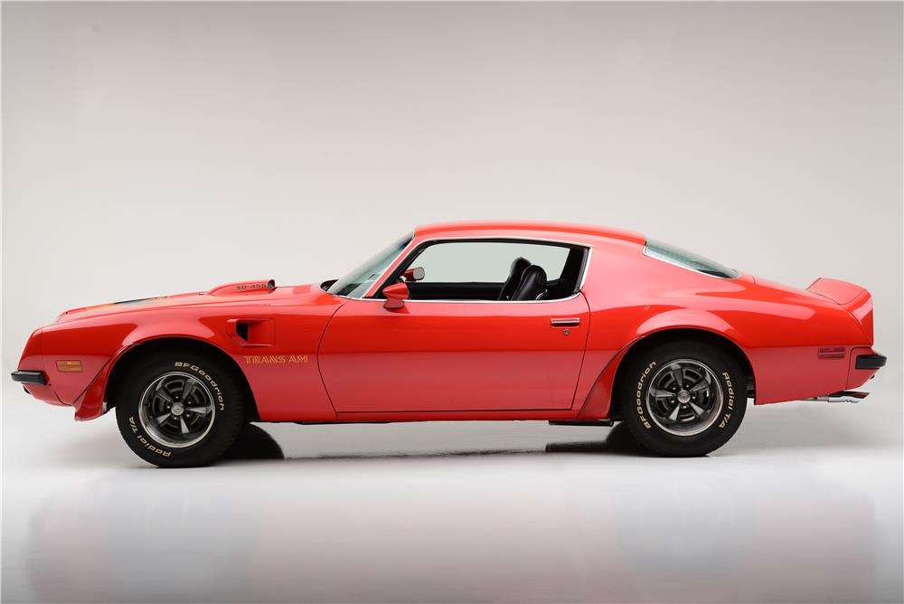 1974 PONTIAC FIREBIRD TRANS AM 455 SUPER DUTY - Side Profile - 185726