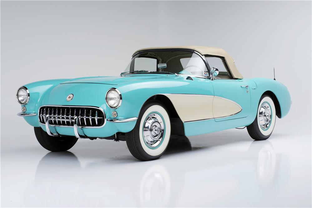 "1957 CHEVROLET CORVETTE CONVERTIBLE ""SERIAL ONE"" - Front 3/4 - 185732"