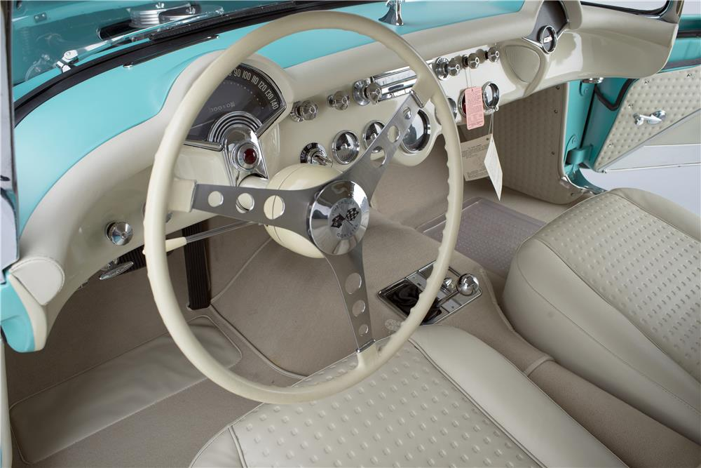 "1957 CHEVROLET CORVETTE CONVERTIBLE ""SERIAL ONE"" - Interior - 185732"