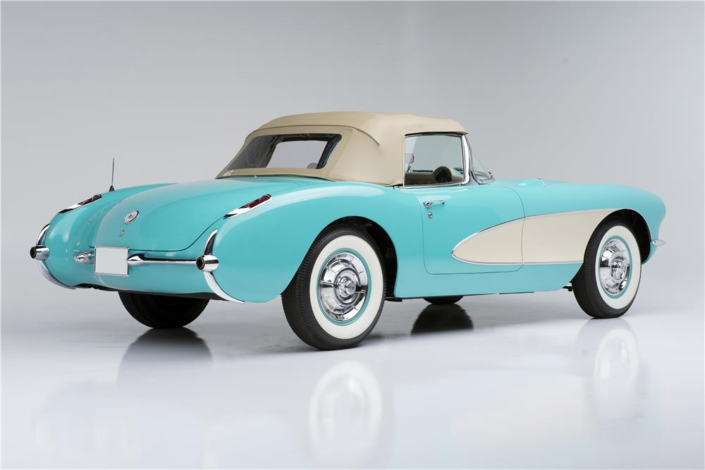 "1957 CHEVROLET CORVETTE CONVERTIBLE ""SERIAL ONE"" - Rear 3/4 - 185732"