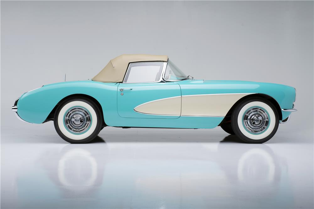 "1957 CHEVROLET CORVETTE CONVERTIBLE ""SERIAL ONE"" - Side Profile - 185732"