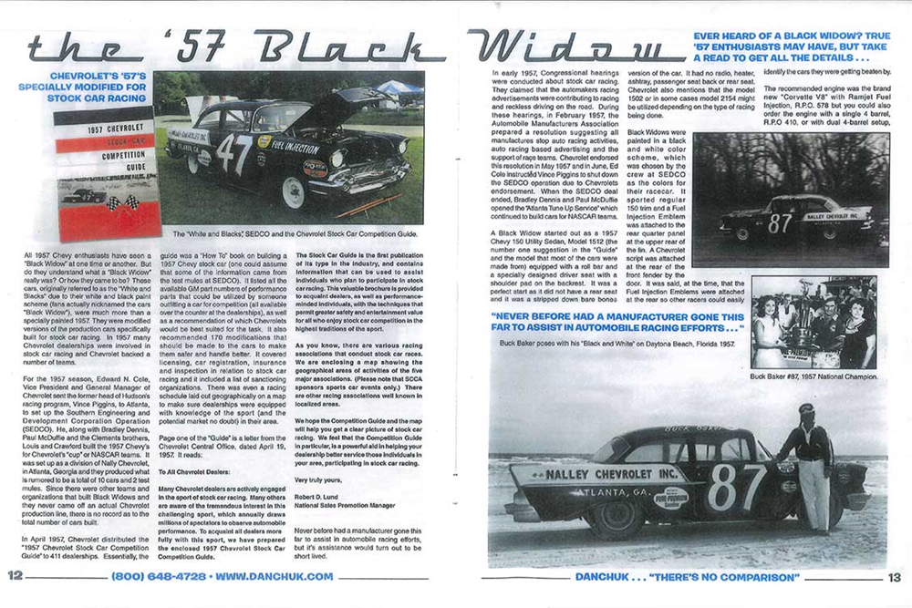 "1957 CHEVROLET 150 RACE CAR ""BLACK WIDOW"" - Misc 4 - 185733"