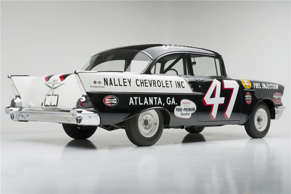 "1957 CHEVROLET 150 RACE CAR ""BLACK WIDOW"" - Rear 3/4 - 185733"