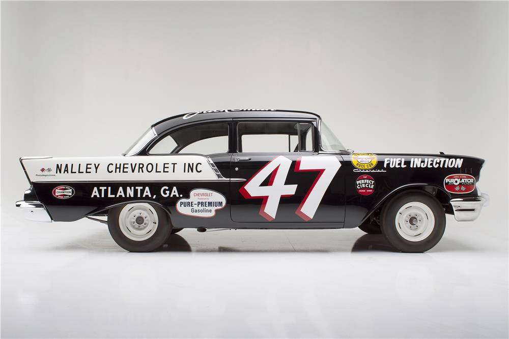 "1957 CHEVROLET 150 RACE CAR ""BLACK WIDOW"" - Side Profile - 185733"