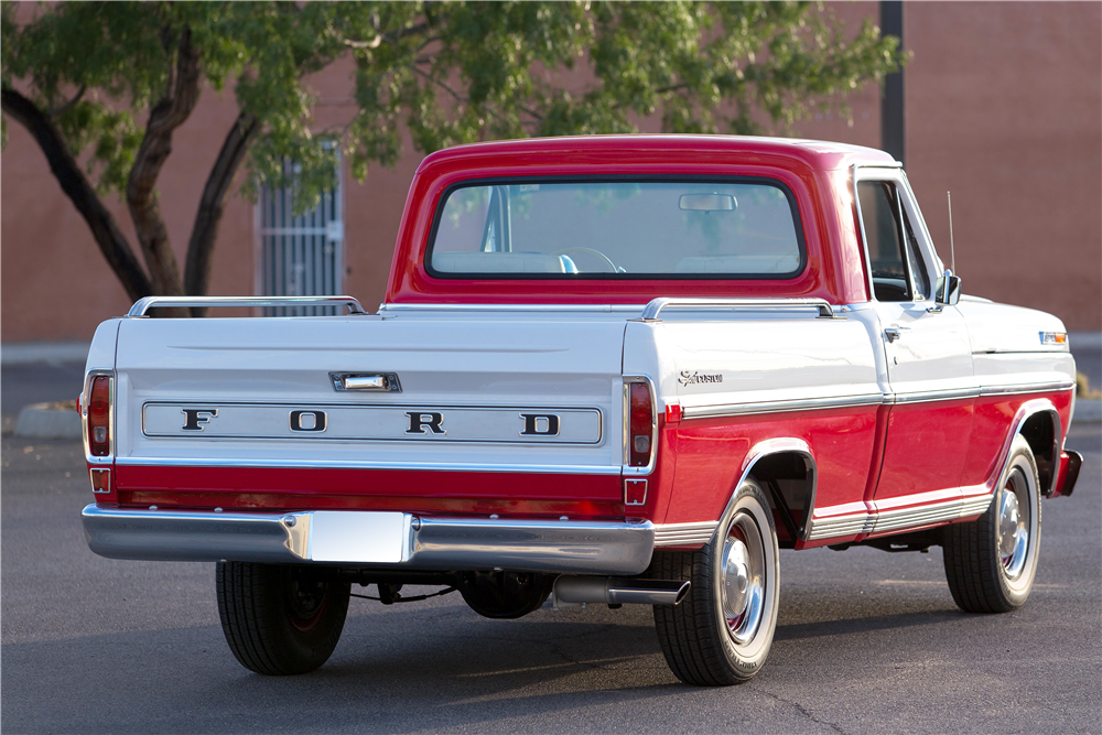 1970 FORD F-100 PICKUP - Rear 3/4 - 185774