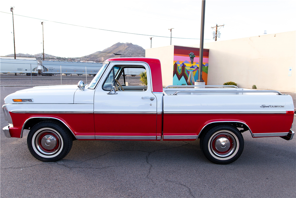 1970 FORD F-100 PICKUP - Side Profile - 185774