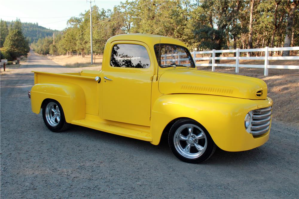 1950 FORD F-1 CUSTOM PICKUP - Front 3/4 - 185778