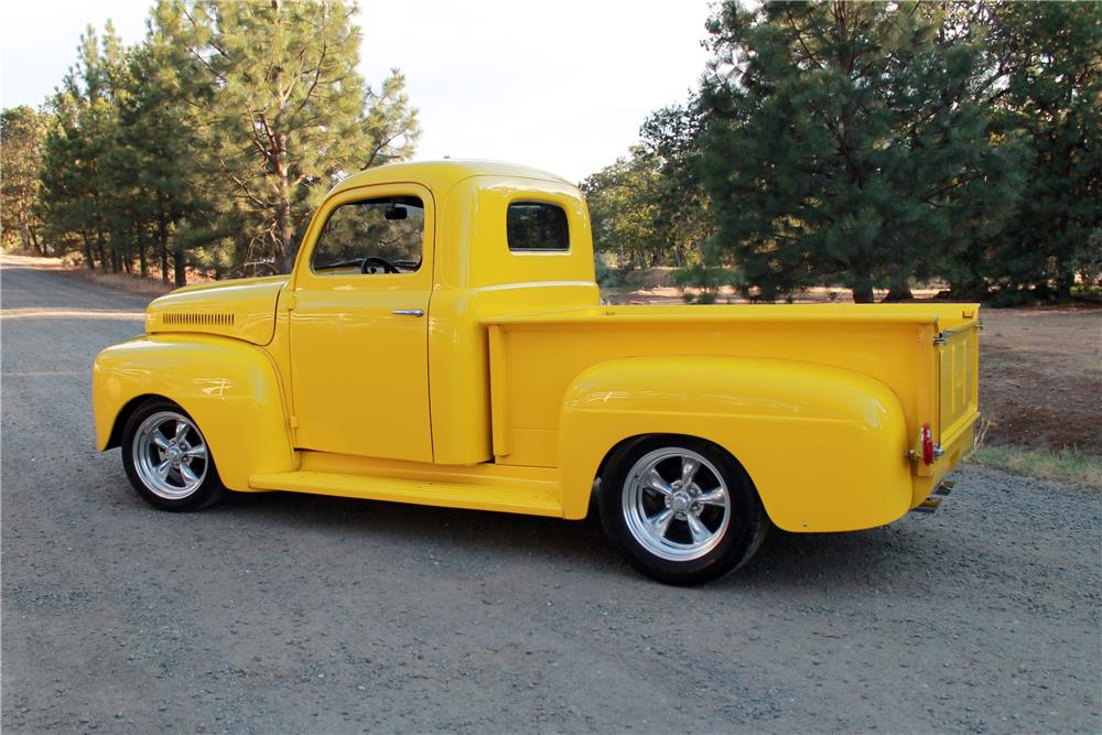 1950 ford f 1 custom pickup 185778. Black Bedroom Furniture Sets. Home Design Ideas
