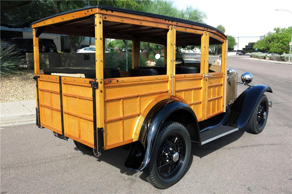 1930 FORD MODEL A WOODY WAGON - Rear 3/4 - 185787