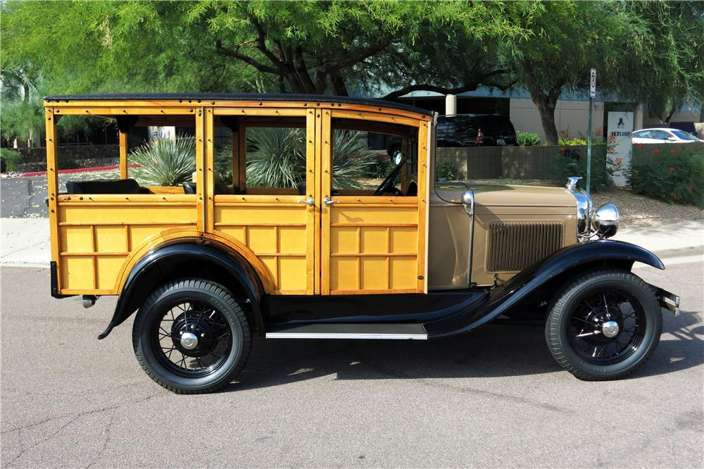 1930 FORD MODEL A WOODY WAGON - Side Profile - 185787