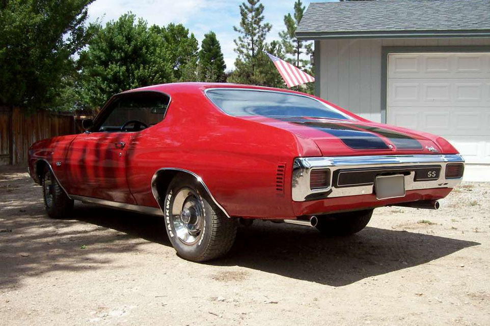 1970 CHEVROLET CHEVELLE CUSTOM - Rear 3/4 - 185797
