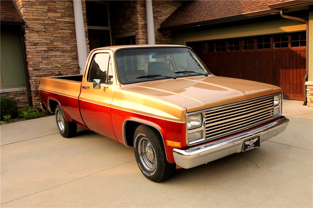 1986 CHEVROLET C-10 CUSTOM PICKUP - Front 3/4 - 185834