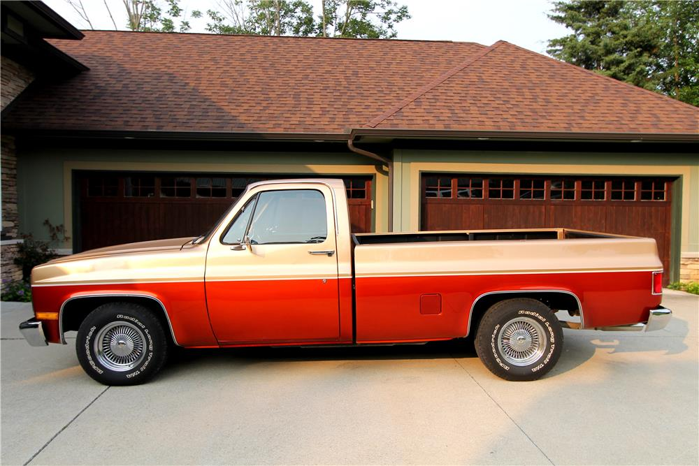 1986 CHEVROLET C-10 CUSTOM PICKUP - Side Profile - 185834