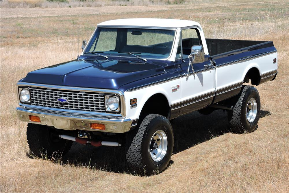 1972 CHEVROLET CHEYENNE PICKUP - Side Profile - 185851