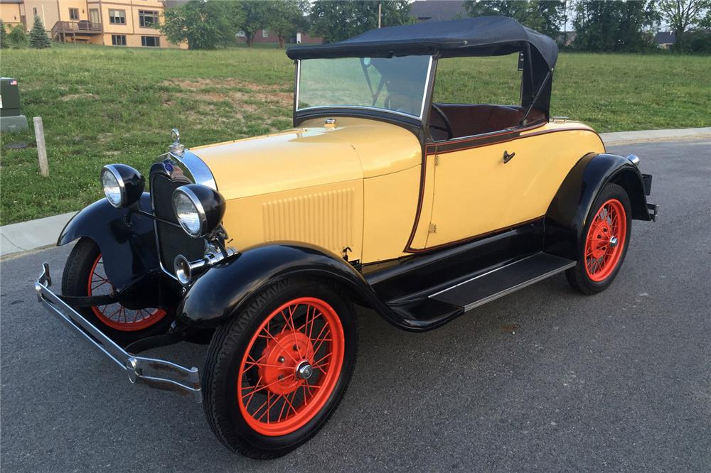 1929 FORD MODEL A RUMBLE SEAT ROADSTER - Front 3/4 - 185865
