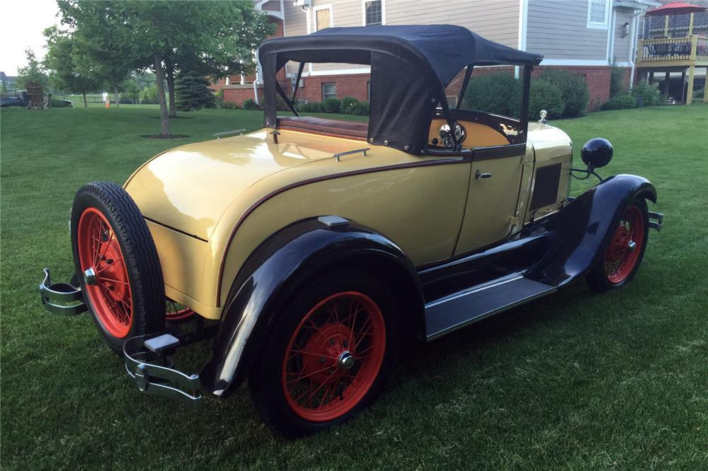 1929 FORD MODEL A RUMBLE SEAT ROADSTER - Rear 3/4 - 185865